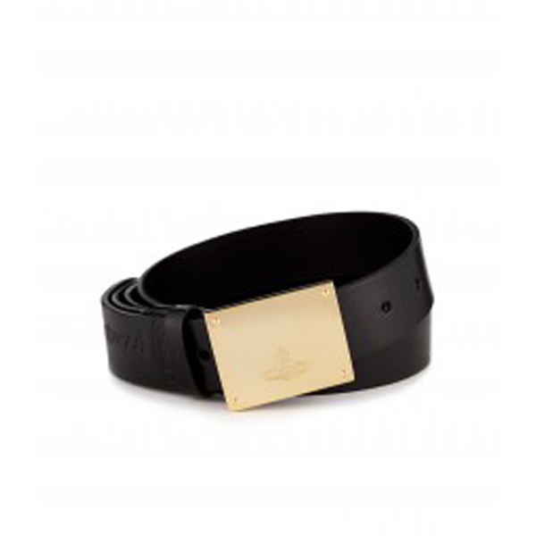 Men Vivienne Westwood BUCKLE BELT 6630 BLACK Outlet Online