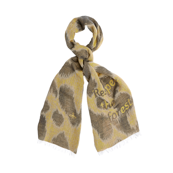 Men Vivienne Westwood RESPECT THE FOREST YELLOW SCARF Outlet Online