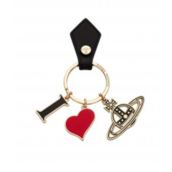 Men Vivienne Westwood RED I LOVE ORB KEY RING Outlet Online