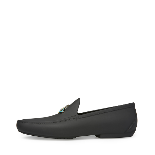 Men Vivienne Westwood ENAMELLED ORB MOCASSIN BLACK Outlet Online