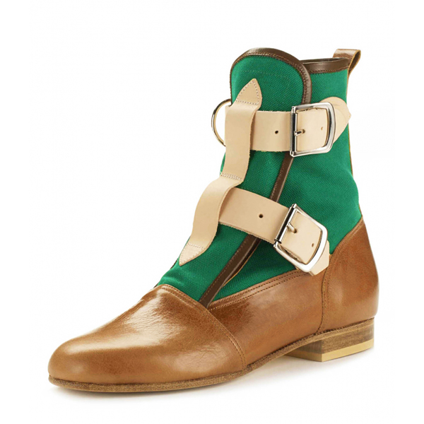Men Vivienne Westwood SEDITIONARIES BOOT TAN/GREEN Outlet Online