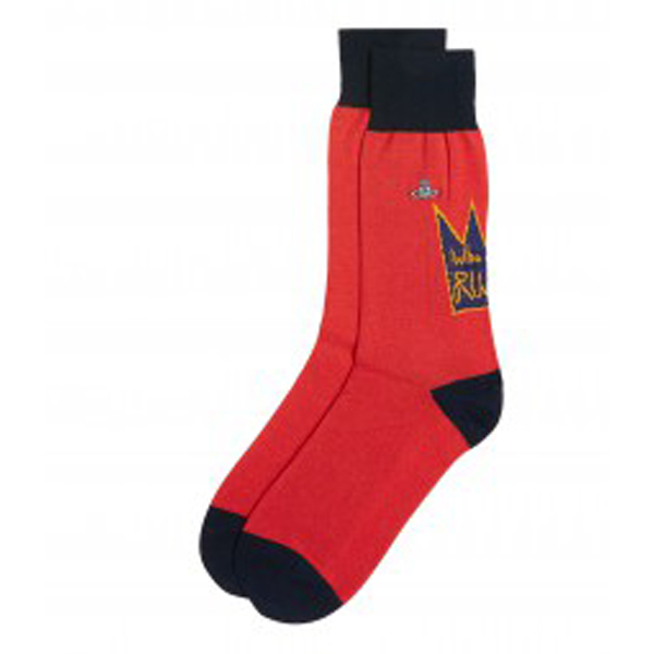 Men Vivienne Westwood WHO ARE OUR RULERS RED SOCKS Outlet Online