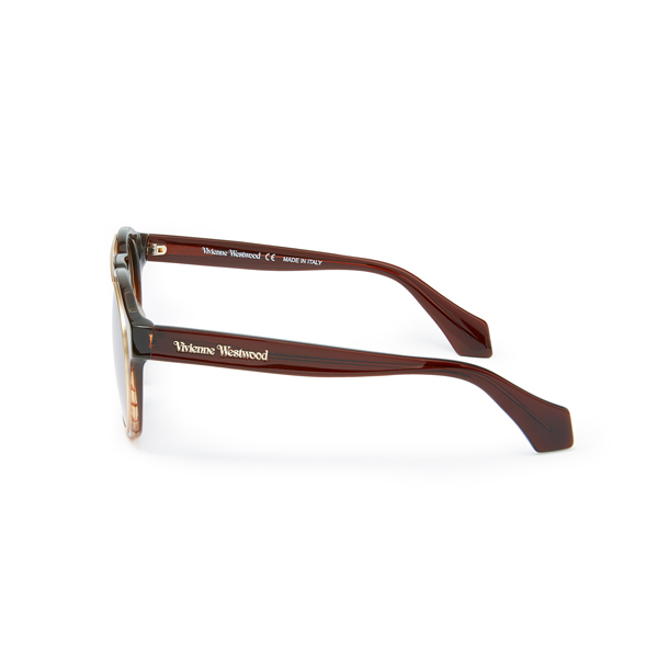 Men Vivienne Westwood OVERSTRUCTURED SUNGLASSES BROWN VW934S02 Outlet Online