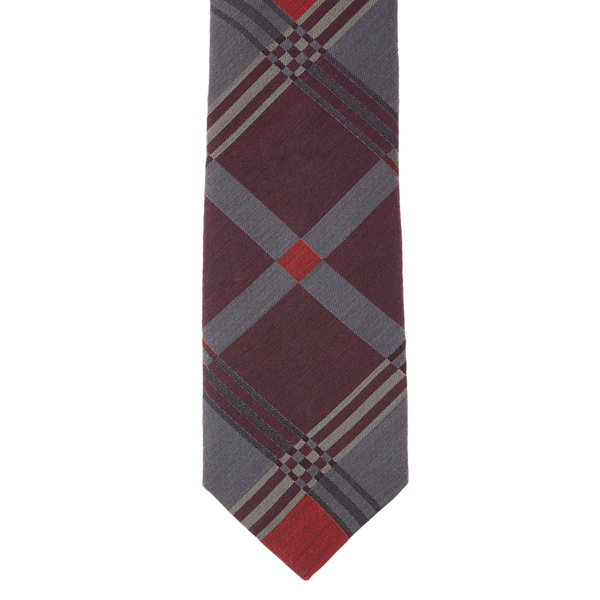 Men Vivienne Westwood PURPLE CHECKED JACQUARD TIE Outlet Online