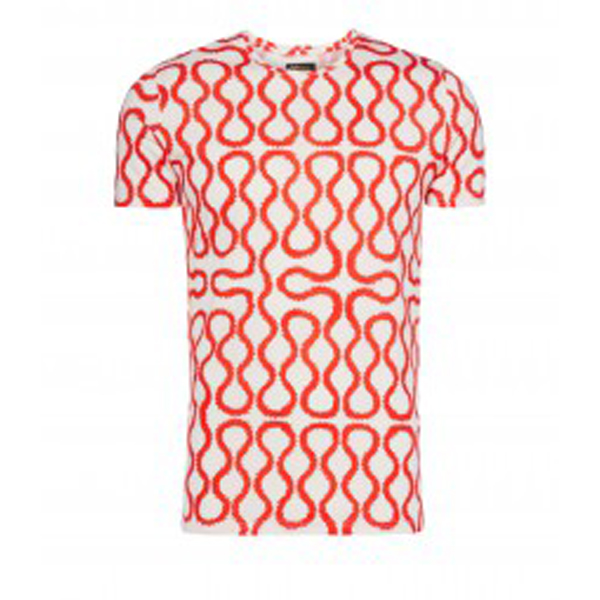 Men Vivienne Westwood RED/ WHITE SQUIGGLE T-SHIRT Outlet Online