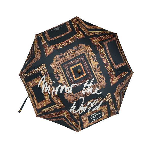 Men Vivienne Westwood MIRROR THE WORLD FRAME LONG UMBRELLA Outlet Online