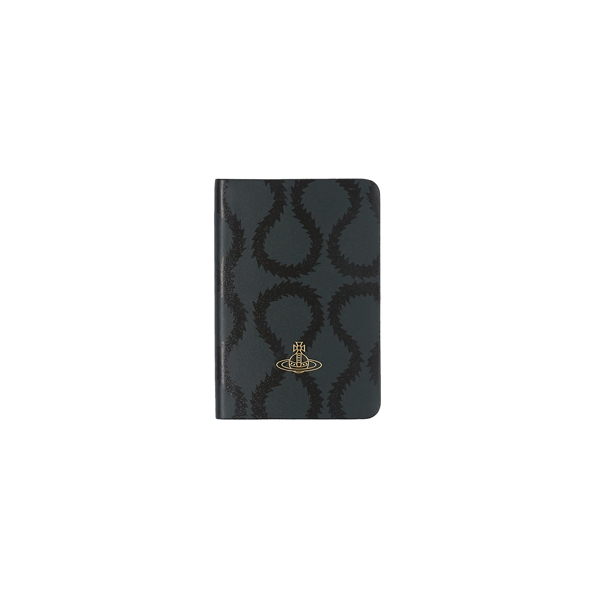 Men Vivienne Westwood A6 JET GREEN SQUIGGLE NOTEBOOK Outlet Online