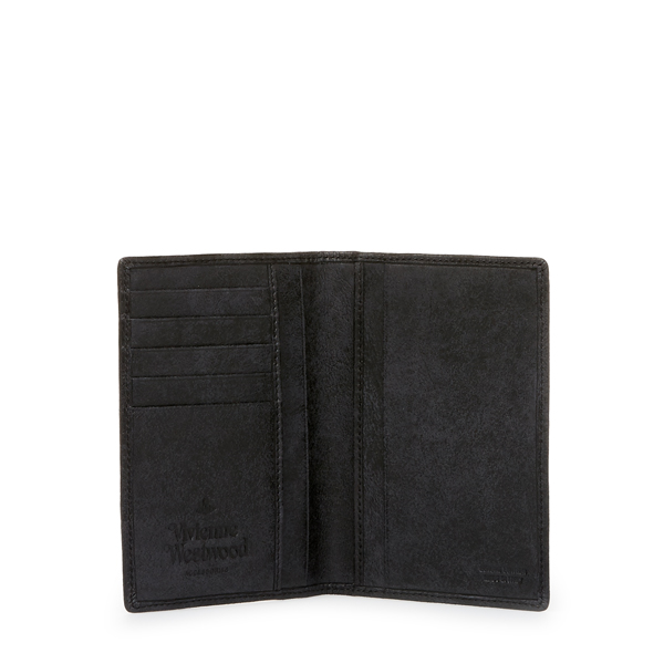 Men Vivienne Westwood NEW BELFAST PASSPORT HOLDER 33377 BLACK Outlet Online