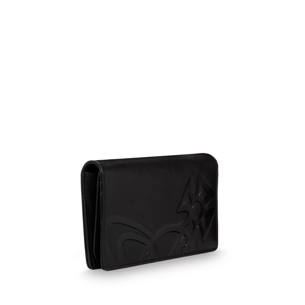 Men Vivienne Westwood MAN GIANT ORB WALLET 5147 BLACK Outlet Online