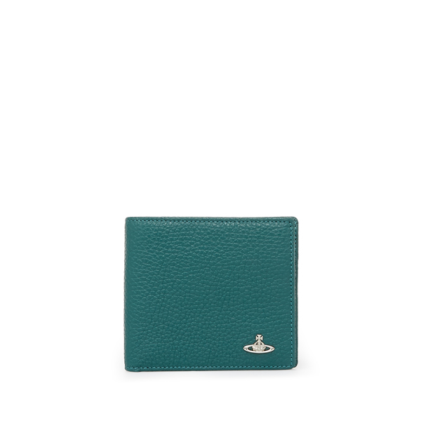 Men Vivienne Westwood MILANO WALLET WITH COIN HOLDER 33355 GREEN Outlet Online