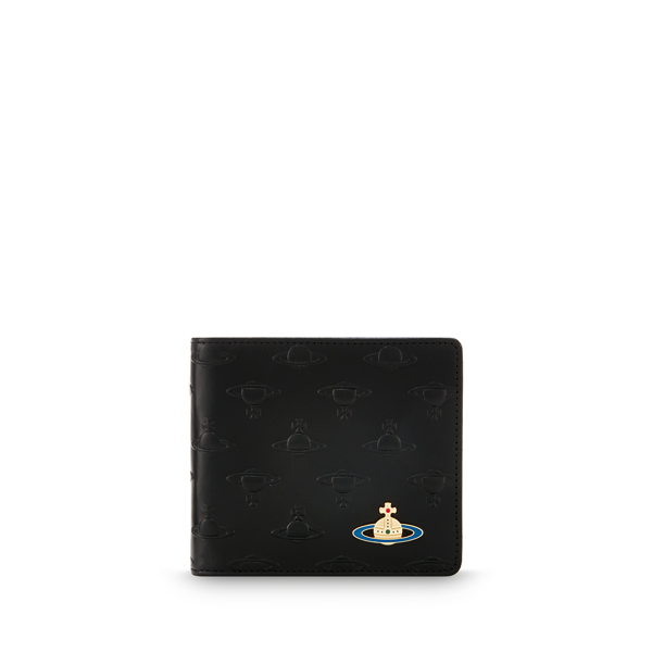 Men Vivienne Westwood ORBS WALLET 728 BLACK Outlet Online
