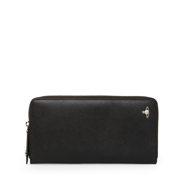Men Vivienne Westwood KENT ZIP WALLET 33367 BLACK Outlet Online