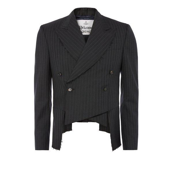 Men Vivienne Westwood FROCK COAT GREY PINSTRIPE Outlet Online