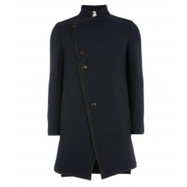 Men Vivienne Westwood ASYMMETRIC COAT NAVY Outlet Online