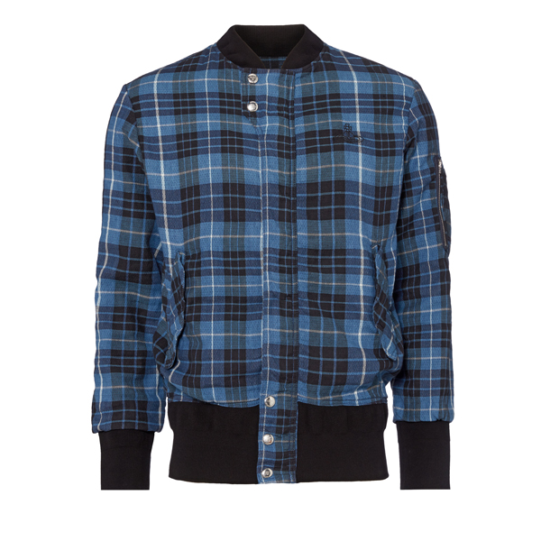 Men Vivienne Westwood TARTAN BERRY BOMBER JACKET Outlet Online