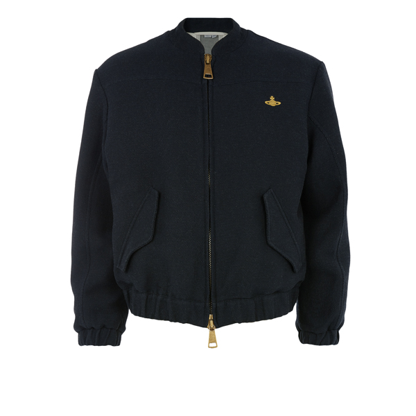 Men Vivienne Westwood TOUGH BOMBER NAVY Outlet Online