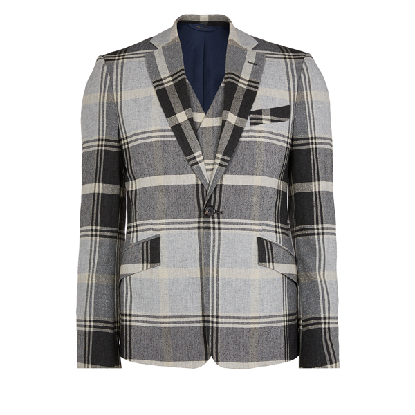 Men Vivienne Westwood WAISTCOAT JACKET GREY CHECK Outlet Online