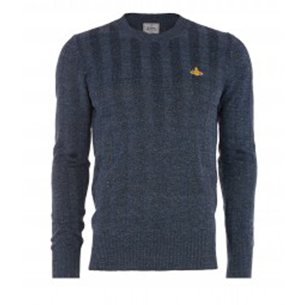 Men Vivienne Westwood CLASSIC ROUNDNECK JUMPER BLUE Outlet Online