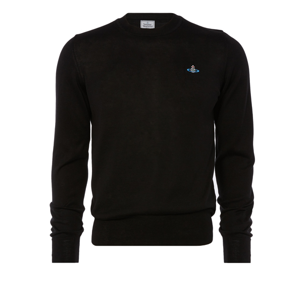 Men Vivienne Westwood CLASSIC ROUND NECK JUMPER BLACK Outlet Online