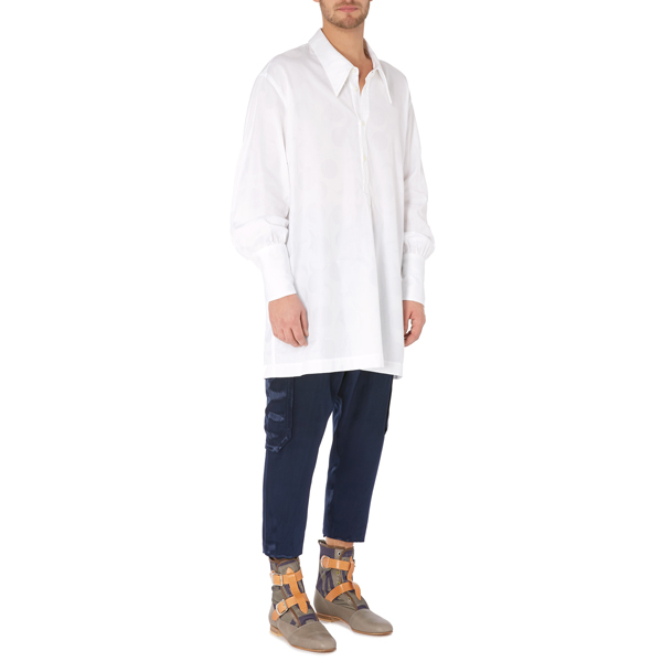 Men Vivienne Westwood NIGHT SHIRT WHITE Outlet Online