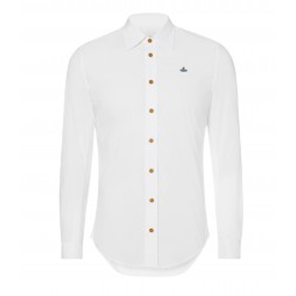 Men Vivienne Westwood CLASSIC STRETCH SHIRT WHITE Outlet Online