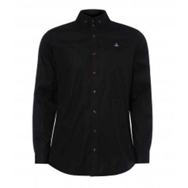 Men Vivienne Westwood KRALL TWO BUTTON SHIRT BLACK Outlet Online