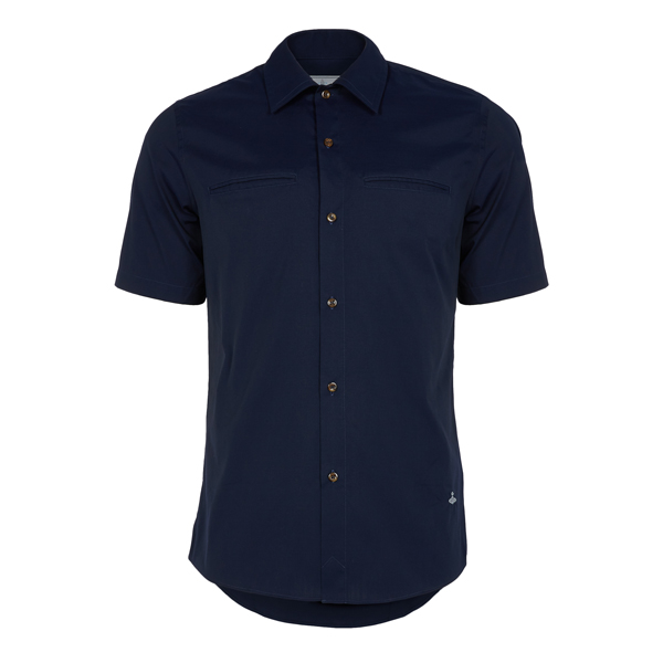 Men Vivienne Westwood RATTLE SHIRT NAVY Outlet Online
