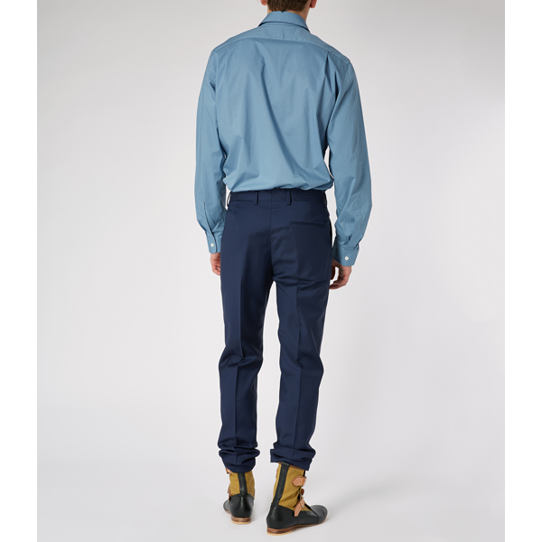 Men Vivienne Westwood KRALL TWO BUTTONS SHIRT BLUE Outlet Online