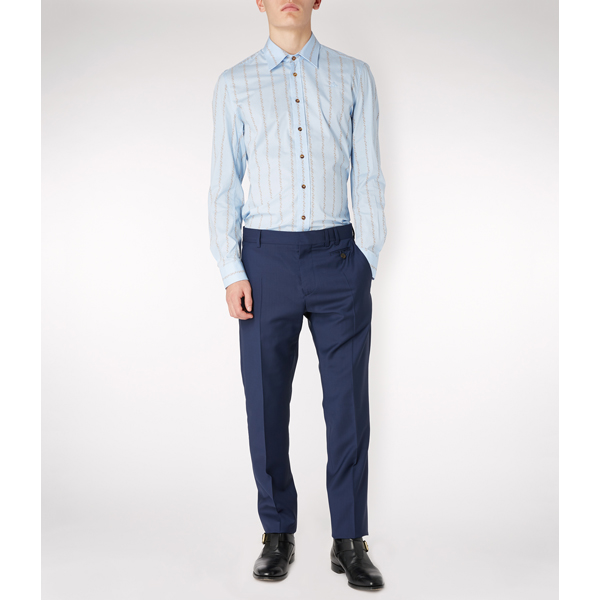 Men Vivienne Westwood CLASSIC STRETCH SHIRT BLUE Outlet Online