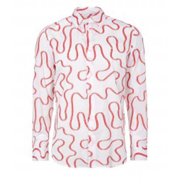 Men Vivienne Westwood SQUIGGLE CLASSIC CUTAWAY SHIRT WHITE Outlet Online