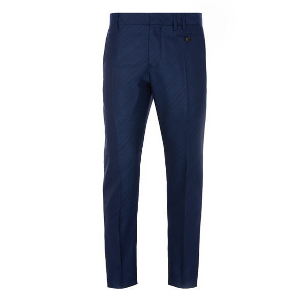 Men Vivienne Westwood BLUE BIAS STRIPE CLASSIC TROUSERS Outlet Online