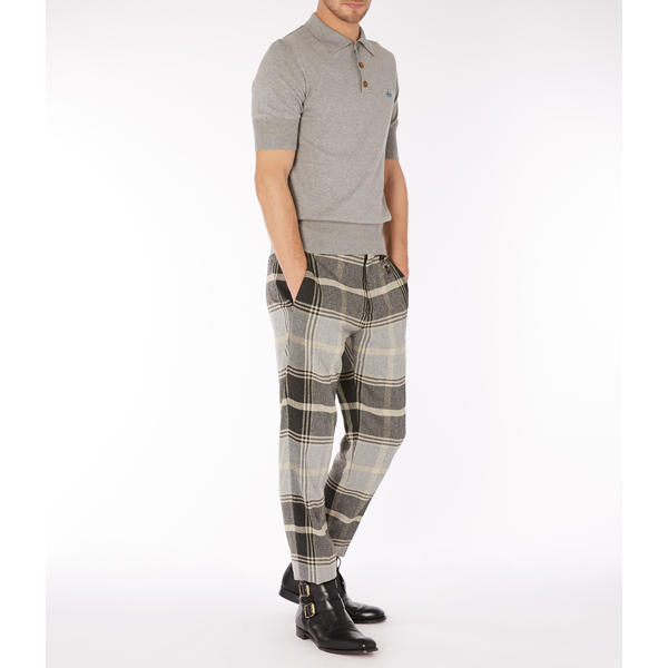 Men Vivienne Westwood CLASSIC TROUSERS GREY CHECK Outlet Online