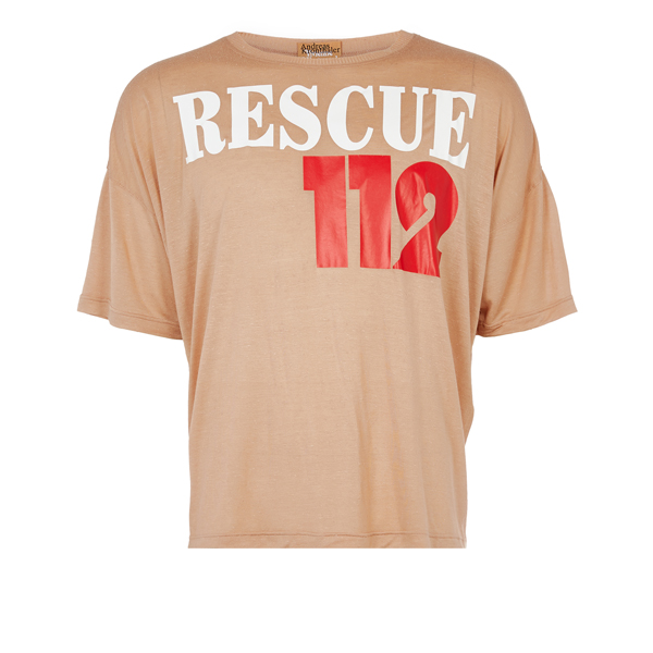 Men Vivienne Westwood RESCUE T-SHIRT CINNAMON Outlet Online
