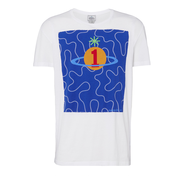 Men Vivienne Westwood SQUIGGLE ORB T-SHIRT WHITE Outlet Online
