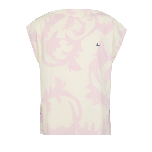 Men Vivienne Westwood SQUARE T-SHIRT PINK LEAVES/TOBACCO JERSEY Outlet Online