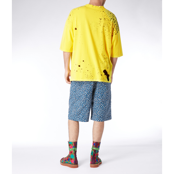 Men Vivienne Westwood YELLOW BAGGY T-SHIRT SPRAY ORB Outlet Online