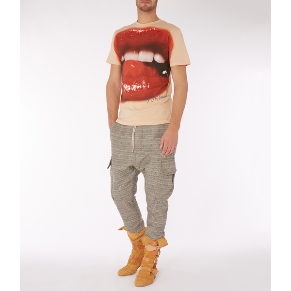 Men Vivienne Westwood LIPS T-SHIRT NUDE Outlet Online