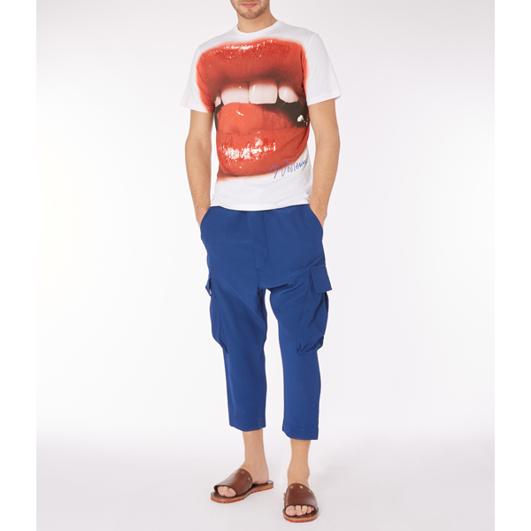 Men Vivienne Westwood LIPS T-SHIRT WHITE Outlet Online
