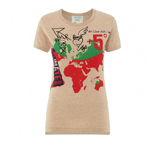 Men Vivienne Westwood WORLD MAP T-SHIRT Outlet Online