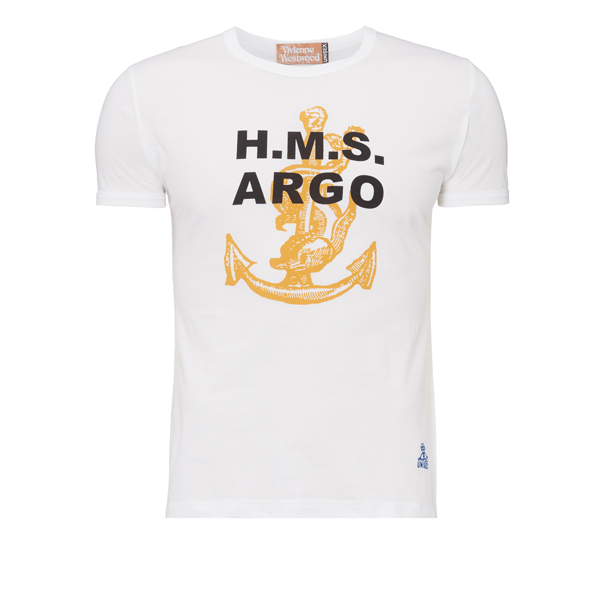Men Vivienne Westwood H. M. S. ARGO INTELLECTUAL T-SHIRT OPTICAL WHITE Outlet Online