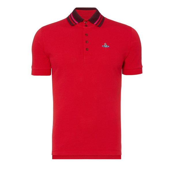 Men Vivienne Westwood KRALL PIQUET POLO SHIRT RED Outlet Online