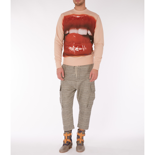 Men Vivienne Westwood LIPS SWEATSHIRT NUDE Outlet Online