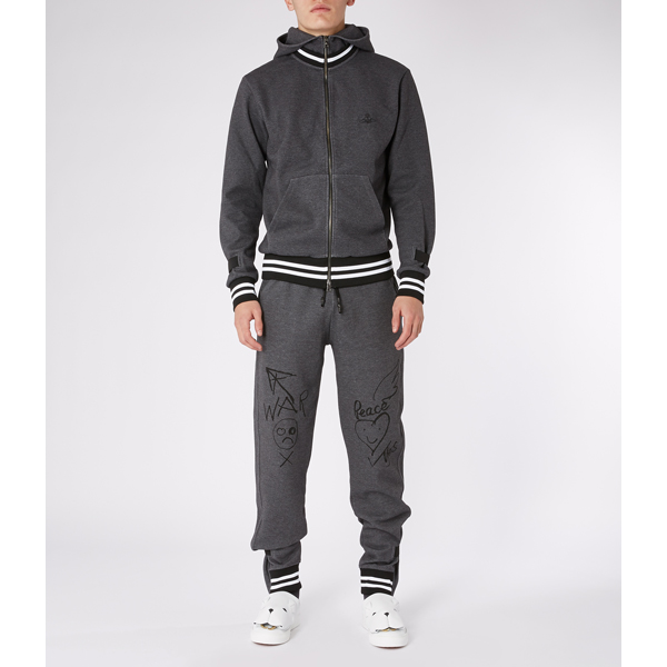 Men Vivienne Westwood GREY WORKER TRACKSUIT PANTS Outlet Online