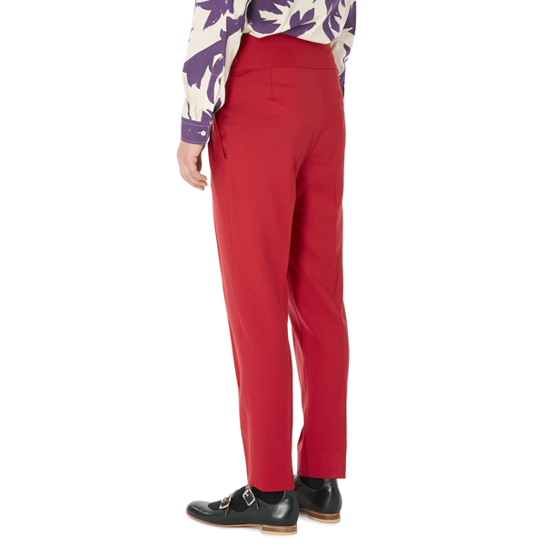 Men Vivienne Westwood NEW CLASSICS TROUSERS RED Outlet Online
