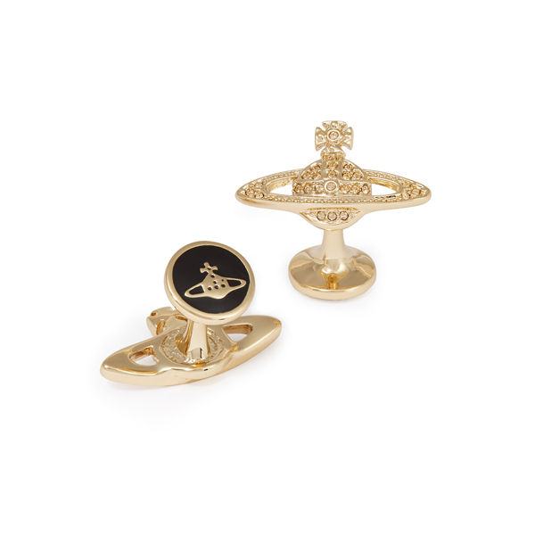 Men Vivienne Westwood MINI BAS RELIEF CUFFLINKS LIGHT TOPAZ Outlet Online