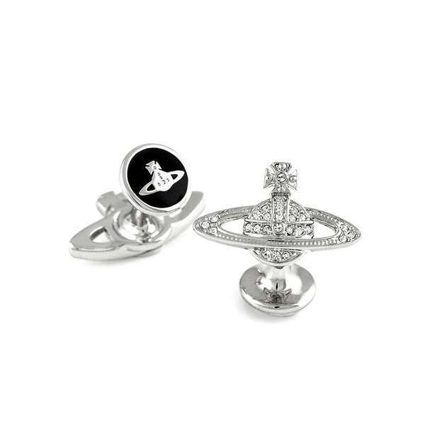 Men Vivienne Westwood MINI BAS RELIEF CRYSTAL CUFFLINKS Outlet Online