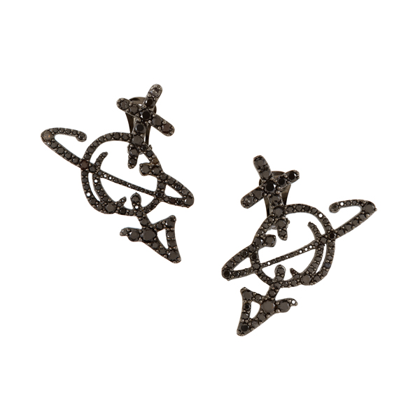 Men Vivienne Westwood UNISEX ORB EARRINGS RUTHENIUM Outlet Online