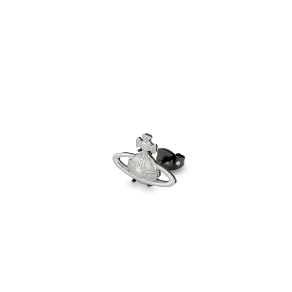 Men Vivienne Westwood SUZON SINGLE STUD SILVER Outlet Online