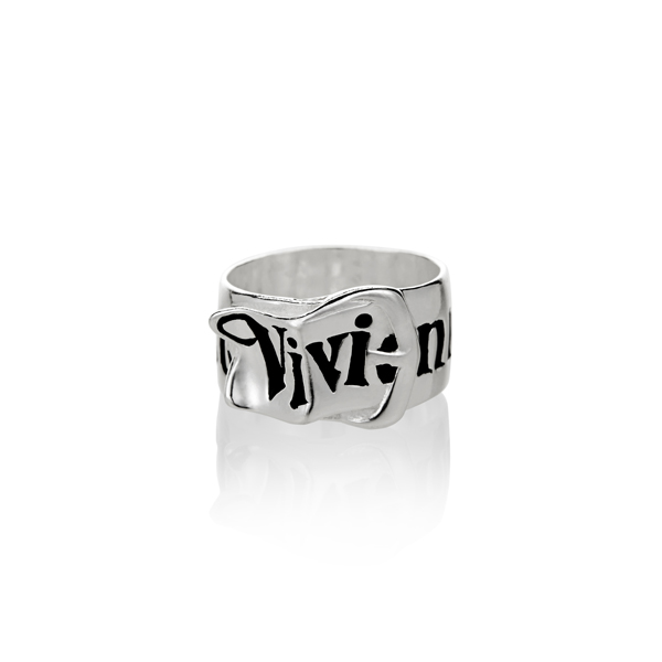 Men Vivienne Westwood SILVER BELT RING Outlet Online