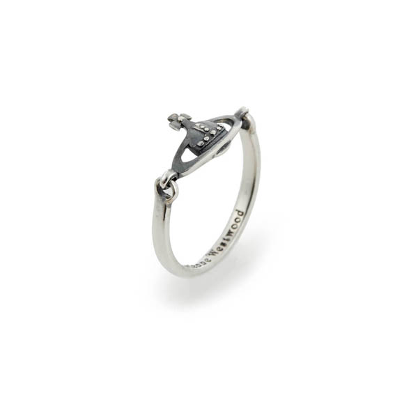 Men Vivienne Westwood VENDOME RING OXIDIZED SILVER Outlet Online